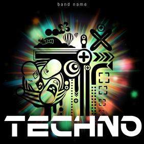 Techno Club Music Album Cover Template Portada de Álbum
