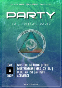 Techno House Minimal Electro Label Release Party DJ Flyer