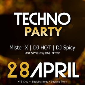 Techno House Sound Electronic Music Event Ad