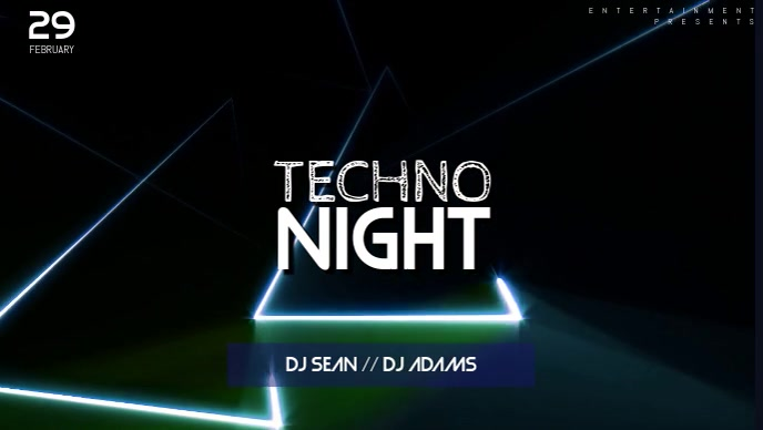 Techno music party facebook cover template postermywall techno music party facebook cover template maxwellsz