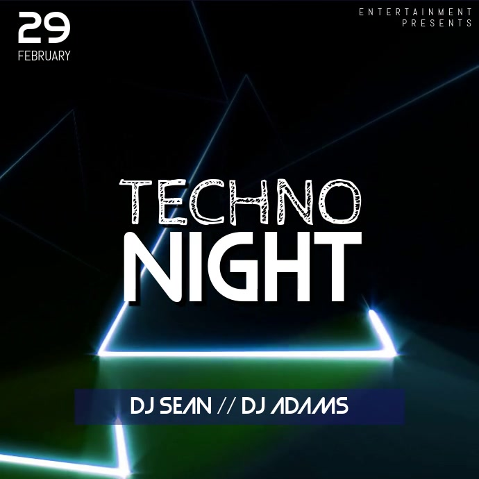 Techno Music Party Instagram Video Template
