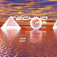 Techno Party Advert Video Abstract Club EDM