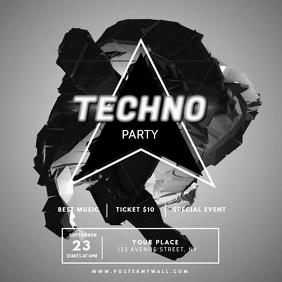 Techno Party Video Design Template
