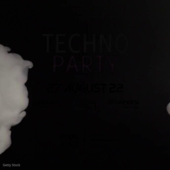 Techno Party Video Smoke Dark Dj Club Bar Ad