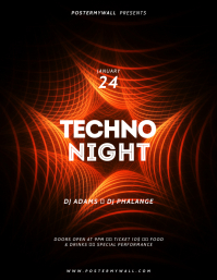 Techno Sounds Flyer Template Folheto (US Letter)