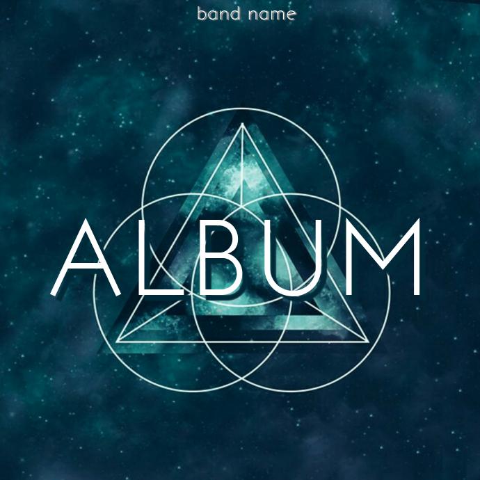 Techno Triangle Album cover Template