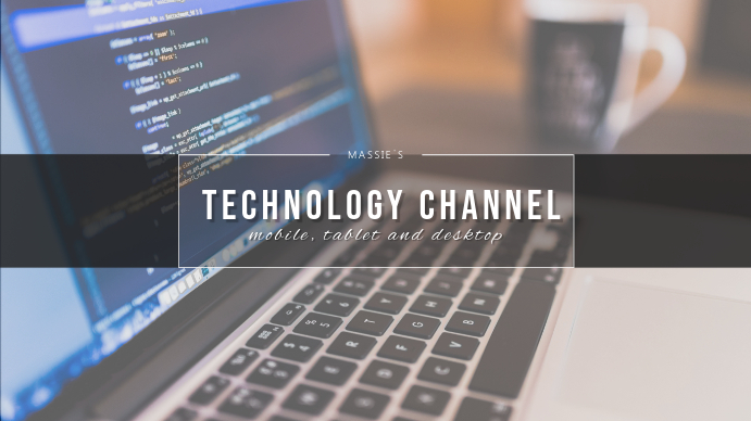 Technology Channel YouTube Cover Template