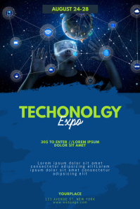 Technology Fair expo Flyer Template Poster