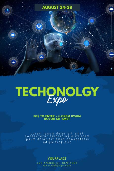 Technology Fair expo Flyer Template Plakkaat