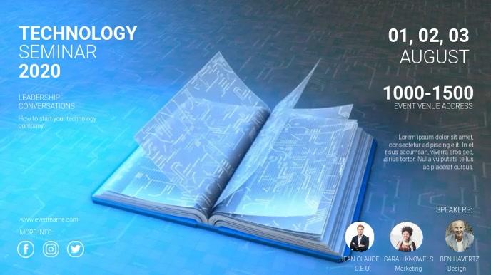 TECHNOLOGY SEMINAR AD Digitale Vertoning (16:9) template