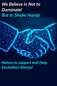 Technology Shake Hands Poster Template