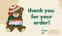 Teddy Bear Thank You Mærke template