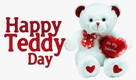 Teddy Day Tag template
