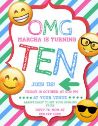 Teen Emoji Birthday Invitation