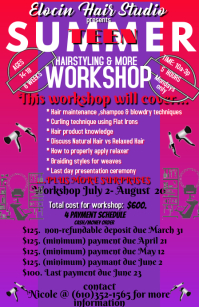 Teen Hair styling Workshop