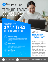 Teen Mental Counseling Flyer
