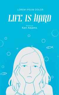 Teen Sad Book Cover Design Template