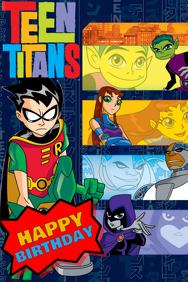 Teen Titans Party Backdrop
