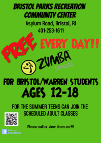 Teen Zumba free for summer