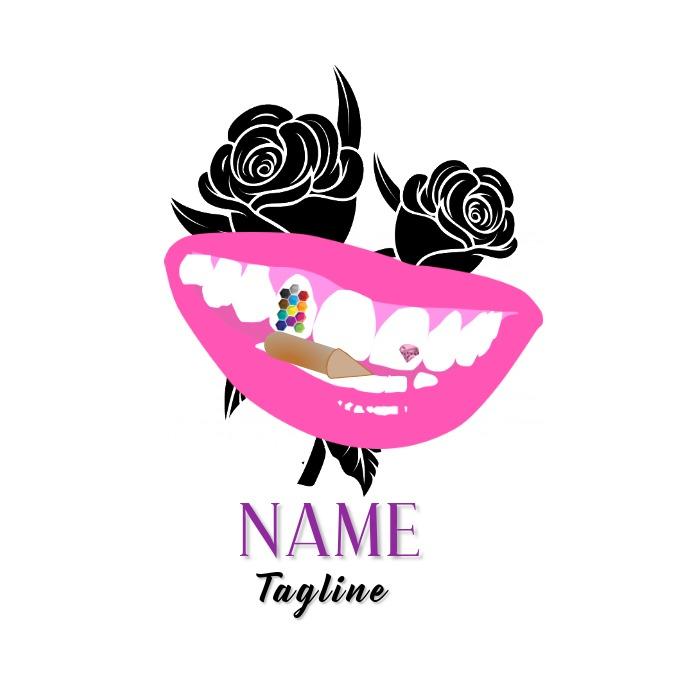 Teeth Bullet Gem Design Logo template