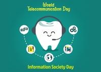 Telecommunication Day Postcard template