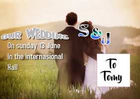 Templat wedding Postal template