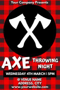 Template axe throwing