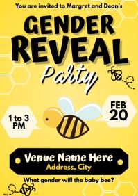 Template baby gender reveal