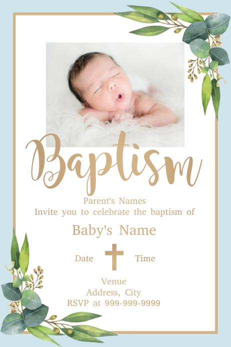 Template baptism Póster