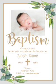 Template baptism Poster