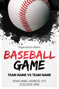 Template baseball Cartaz