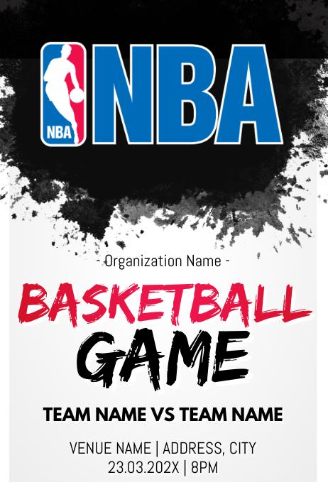 Template basketball Poster
