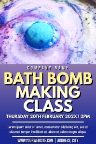 Template bath bomb