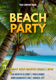 Template beach party