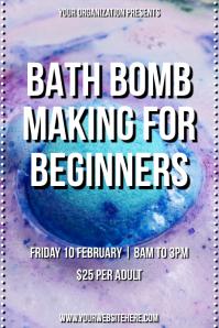 Template beauty bath bomb