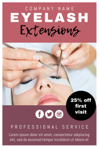 Template beauty lash extensions
