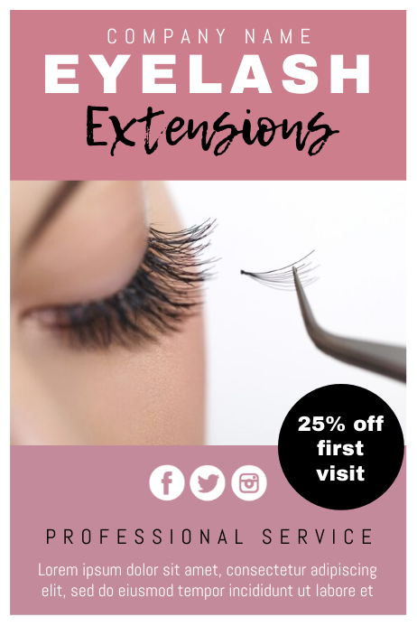 Template beauty lash extensions 海报