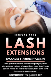 Template beauty lash extesions