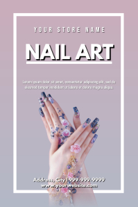 Template beauty nail art