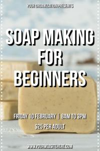 Template beauty soap making