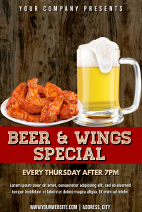 Template beer & wings special