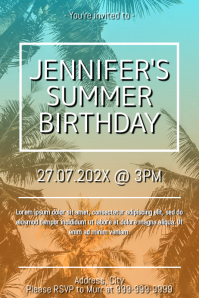 Template birthday Poster