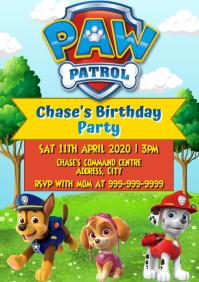 Template birthday party paw patrol