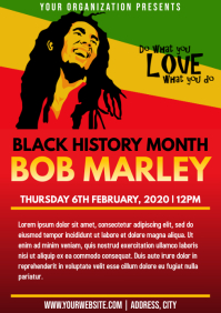 Template black history month bob marley