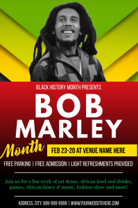Template black history month Plakat