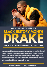 Template black history month drake