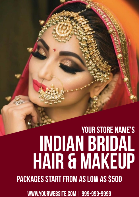 Template bridal makeup