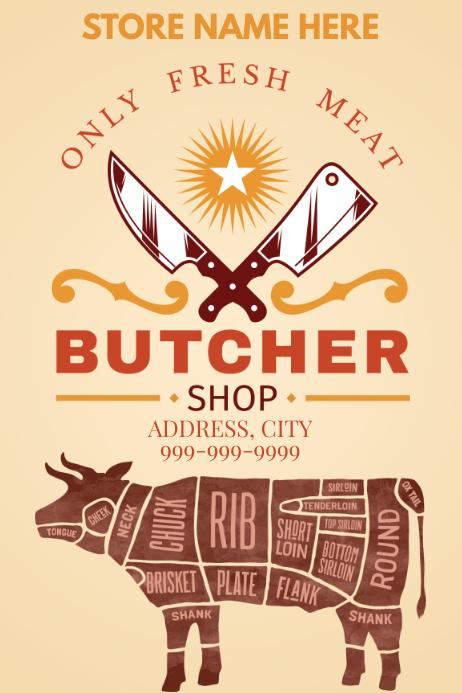 Template butcher shop