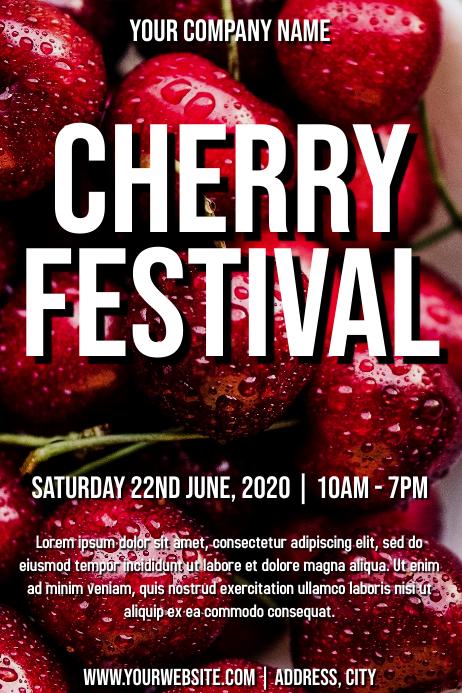 Template cherry festival