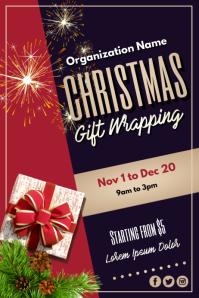 Template christmas Poster